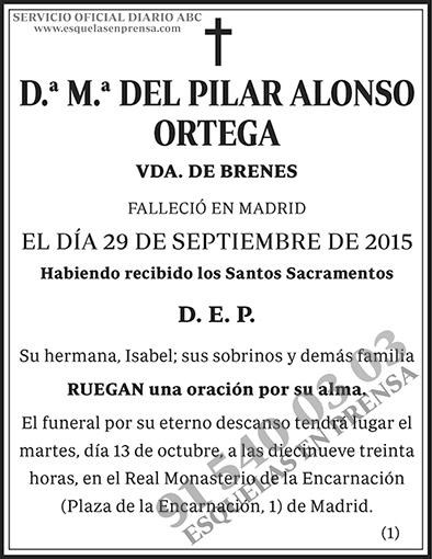 M.ª del Pilar Alonso Ortega